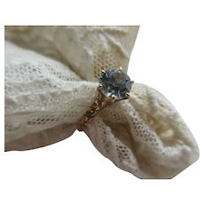Antique Victorian 1CT Aqua Ring 10K Victorian Band