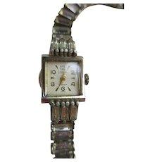 Vintage Valjean Swiss 17 Jewel Ladies Wrist Watch Jeweled Band
