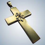 Antique 10K Cross Pendant