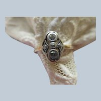 Antique Gold and Silver Diamond Ring