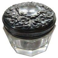 Victorian English Sterling Patch Pot Dresser Jar