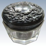 Victorian English Sterling Patch Pot Dresser Jar