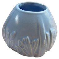 Vintage 1940s McCoy Pottery Blue Butterflies Vase