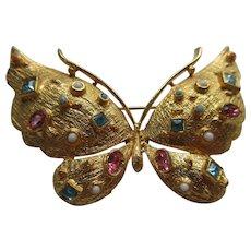 Vintage Hattie Carnegie Butterfly Brooch