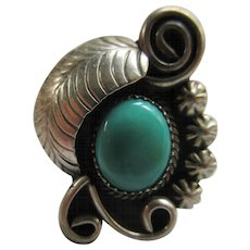 Vintage Native American Sterling Turquoise Ring