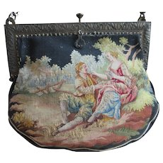 Victorian Micro Petit Point Bag Love Scene