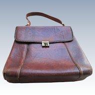 Arts and Crafts Meeker Large Tooled Leather Handbag