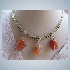 Vintage Mirano Natural Stone Necklace