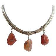 Vintage Mirano Natural Stone Necklace