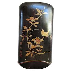 Antique Lacquered Paper Mache Cigar Holder Japanese