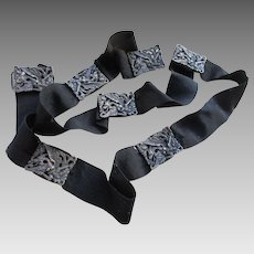 Victorian Figural Dragon Black Gross Grain Belt