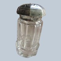 Antique Sterling Crystal Sugar Shaker
