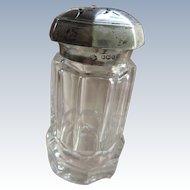 Antique Sterling Crystal Sugar Shaker
