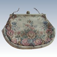 Vintage Floral Petite Point purse