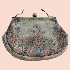 Vintage Floral Petite Point purse