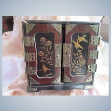 Older Vintage Asian Inspired Chest Jewelry Box TLC