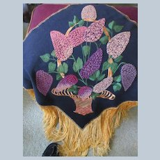 Vintage Embroidered Throw