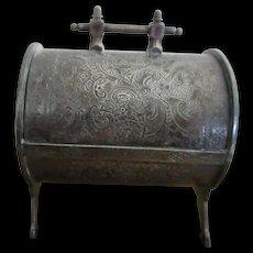 Victorian Silverplate Mechanical Jewelry Casket Jewel Box