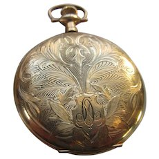 Antique Elgin Gold Fill Pocket Watch TLC