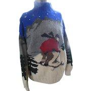 Vintage Lauren Ralph Lauren Hand Knit Wool Sweater