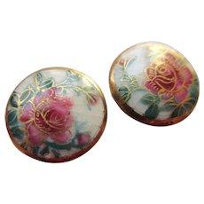 Victorian Era Satsuma Buttons 19th Century