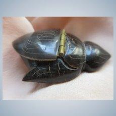Vintage Carved Sea Turtle Snuff