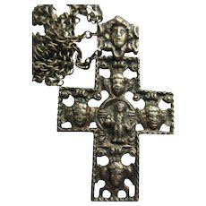Vintage 800 Silver Cross Necklace