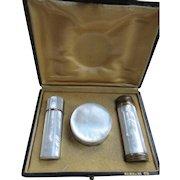 Vintage French Necessaire Vanity Items Set Original Box