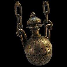 Antique Victorian Watch Chain Perfume Pendant Fob