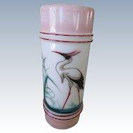 Victorian Cylinder Bird Vase Circa 1876