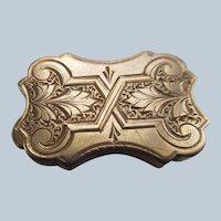 Victorian 19th Century Button in Gold Fill