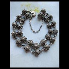 Vintage 800 Silver Cannetille Bracelet