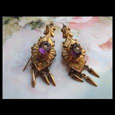 Victorian Pierced Earrings in Gold Fill