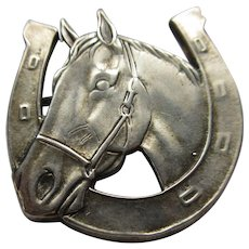 Vintage Mexican Sterling Horse Pin