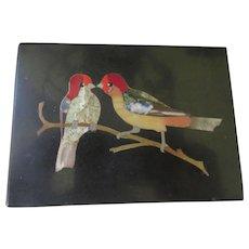 Antique Pietra Dura Plaque Paper Weight