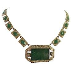 Vintage 1930s Czech Intaglio Necklace