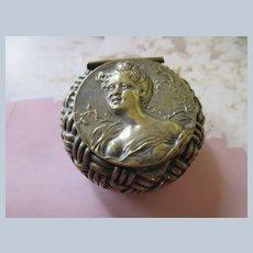 Antique Art Nouveau Sterling Patch Pot