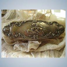 Antique Sterling Vanity Brush Cherub Motif