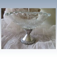 Vintage Duchin Sterling Glass Compote