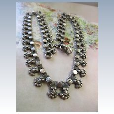 Vintage Silver Book Chain 16.5'' Necklace