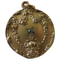 Antique Paste Locket in Gold Fill
