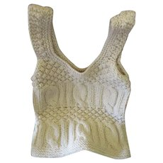 Vintage Hand Knit Italian Bohemian Style Hippie Vest