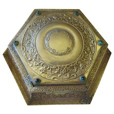Antique Repousse Jeweled Jewelry Box