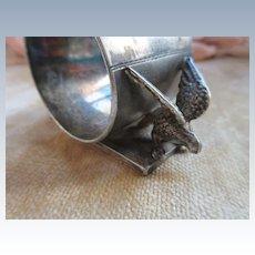 Victorian Silver Plate Napkin Holder Figural Birds Napkin Holder Meriden