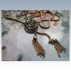 Vintage Gold Fill Slide Tassel Necklace