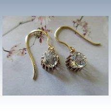 Antique 10K Paste Pierced Earrings