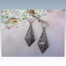 Vintage Taxco Mexico 925 Sterling Drop Earrings
