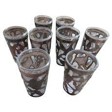 Vintage Sterling Silver Overlay Tequila Shot Cordial Glasses Set