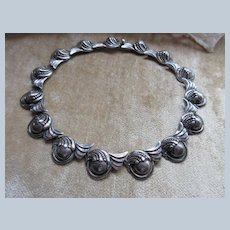 Vintage 1940s Margot De Taxco Mexican Sterling Necklace