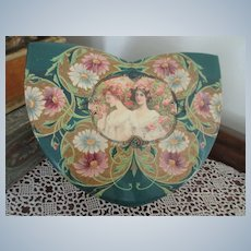Antique Victorian Celluloid Collar Box